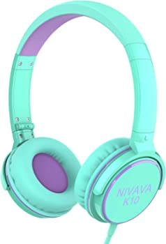 Nivava Foldable Lightweight Adjustable On Ear Headphones