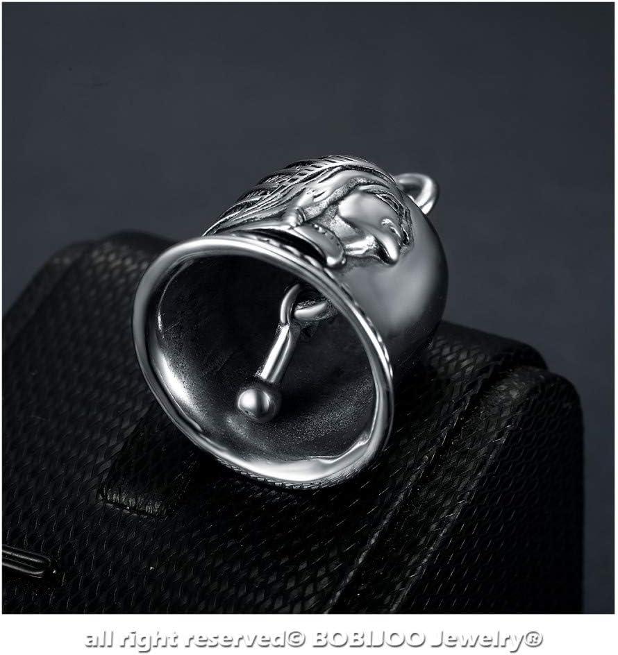 Clochette Porte-Bonheur Protection Motard Moto Biker Acier 316L T/ête dIndien Triker BOBIJOO Jewelry