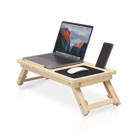 Mesa portátil ecológica para cama ✮ comodidad y comodidad ✮ Mesa plegable para cama, mesa