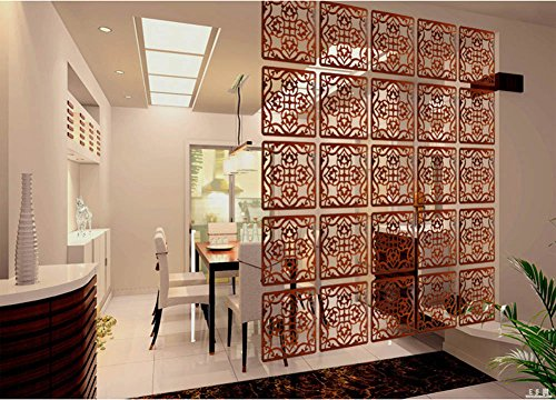 Lchen Simple Redwood Room Divider Environmentally Safety Home Pancel Screen (4, H-Large)