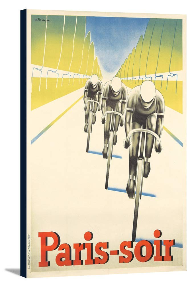 paris-soirヴィンテージポスター(アーティスト: Brunyer )フランスC。1930 16 x 24 Gallery Canvas LANT-3P-SC-72826-16x24 B01CXXM8X8  16 x 24 Gallery Canvas