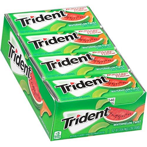 Price comparison product image Trident Gum,  Watermelon Twist,  18-Stick Packs (Pack of 12)