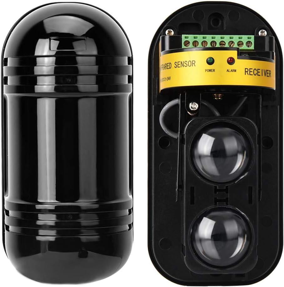 Sensor de alarma IR Alarma de seguridad IR 100 m Barrera de haz invisible Detecci/ón activa Impermeable Digital Sensor de infrarrojos de pulso