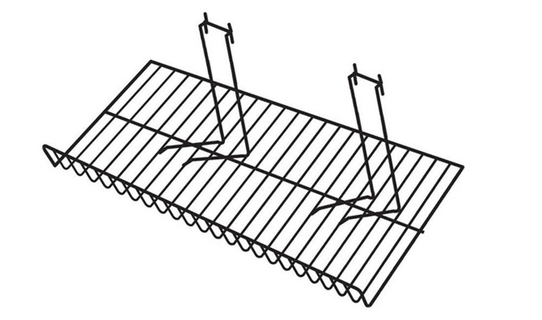 Downslope Slatwall Wire Store Display Shelf Pegboard Grid Black Lot of 12 NEW