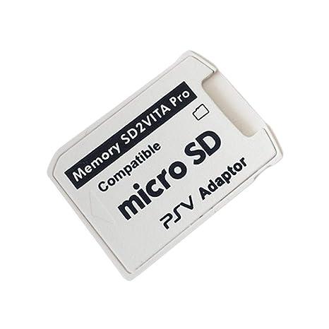 Adaptador Profesional pequeño tamaño versión 5.0 SD2VITA para PS Vita Tarjeta de Memoria TF para PSVita Game Card1000 / 2000 PSV Adaptador (Color: ...