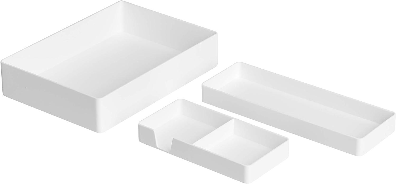 Porta biglietti da visita Basics Plastic Organizer bianco