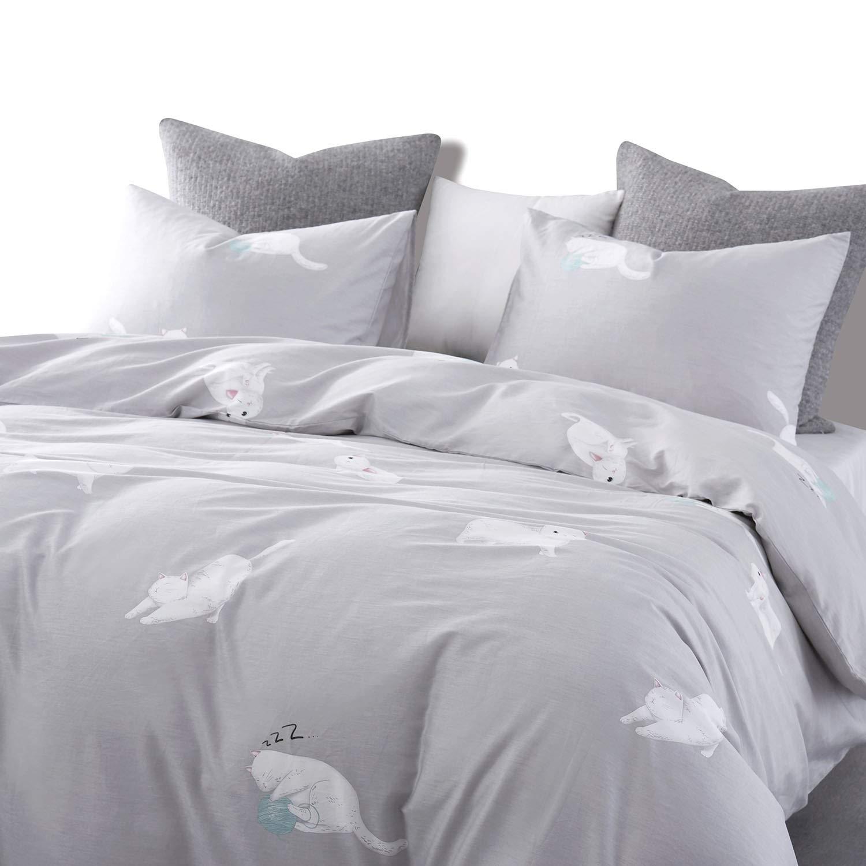 3pcs, King Size Wake In Cloud Boho Chic Mandala Printed with Zipper Closure 100/% Cotton Bedding Bohemian Duvet Cover Set