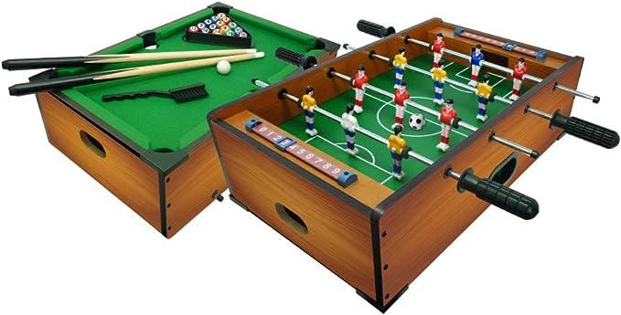 Sport1-2 en 1 - Futbolín Biliardo, Color marrón, 706200406: Amazon ...
