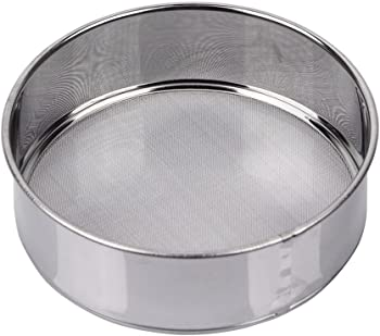 AMPSEVEN stainless Steel Tamis Sieve 6 Inch Round Flour Sifter