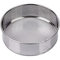 AMPSEVEN Tamis Sieve Flour Stainless Steel Round Sifter for Baking 6 Inch