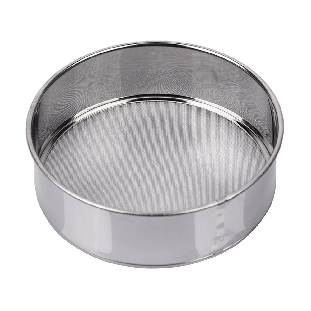 AMPSEVEN Tamis Sieve Flour Stainless Steel 40 Mesh Round Sifter for Baking 6 Inch by AMPSEVEN