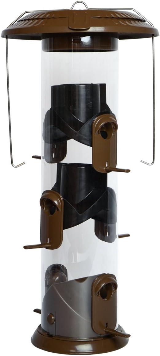 Nature's Way Bird Products WMFFB-19 Funnel Flip Top Tube Feeder, Bronze