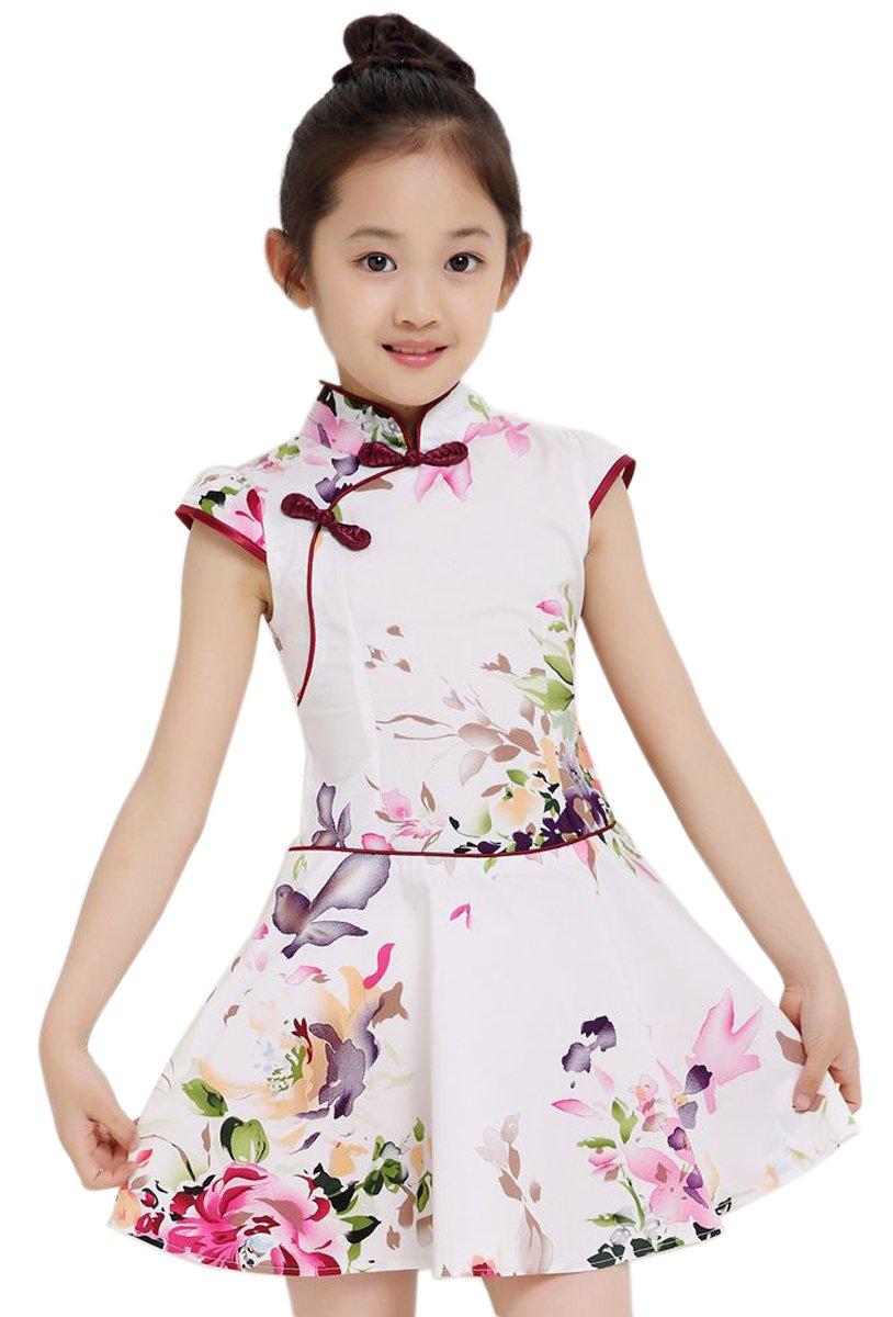Suimiki Girls Kids China Style Chinese Qipao Cheongsam Dress Costume Top F130