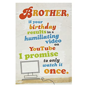 Hallmark Birthday Card For Brother Funny Youtube Video