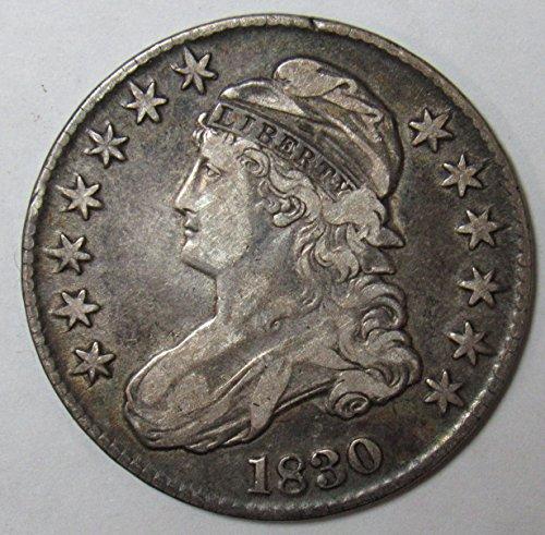 (1830 Capped Bust Half Dollar 50c Very Fine O-117 R.2)