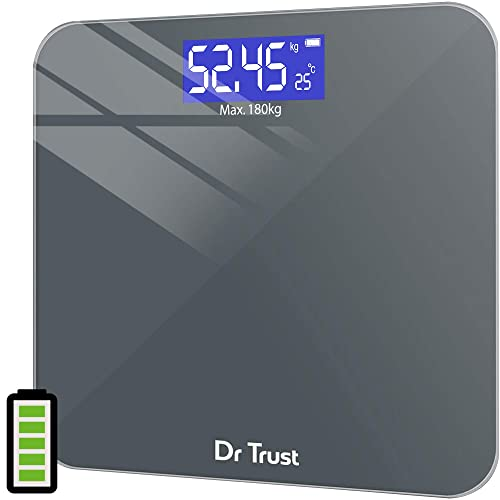 3. Dr Trust (USA) Electronic Platinum Rechargeable Digital Personal Weighing Scale for Human Body with Temperature Display