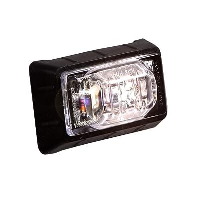 "Maxxima M09360WCL White 1-1/2"" Rectangular LED Clear Lens Mini Auxiliary Courtesy Light: Automotive"