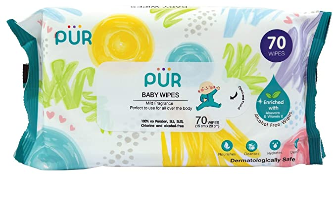 Pur Baby Wet Wipes  70 Wipes