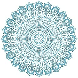 "Hippie Mandala Stencil - (Size 14""w x 14""h) Reusable Wall Stencils for Painting - Best Quality Decor Ideas - Use on Walls, Floors, Fabrics, Glass, Wood, and More…"