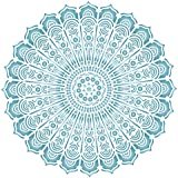 """Indian Mandala Stencil - (size 6.5""""w x 6.5""""h) Reusable Wall Stencils for Painting - Best Quality Decor Ideas - Use on Walls, Floors, Fabrics, Glass, Wood, and More…"""