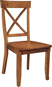 Cottage Oak Pair of Dining Chairs by Home Styles
