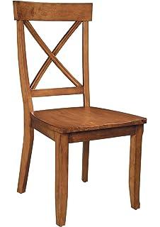 Amazoncom Solid Wood Dark Oak Dining Chairs Set of 2 Kitchen