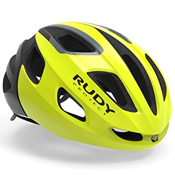Rudy Project strym Bicicleta Casco – Yellow Fluo Shiny, 55-58 cm