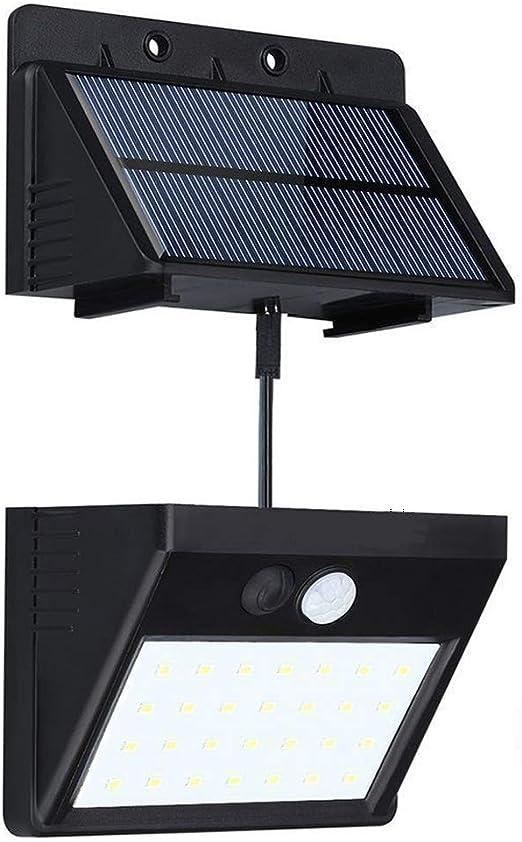 2 x Lampada LED ad Energia Solare da Esterno Impermeabile Sensore di Movimento