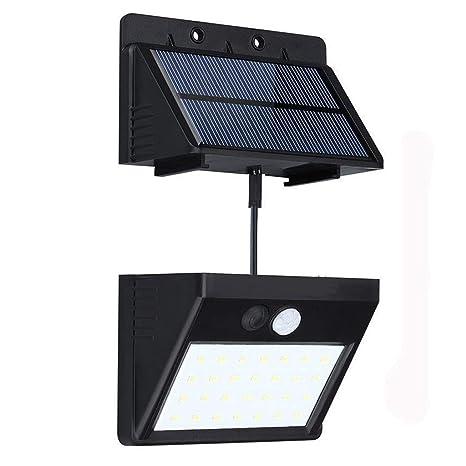 Luce Per Esterno Con Pannello Solare.Luce Solare Da Esterno Con 28 Led Luci Solari Con Sensore Di Movimento Lampade Energia Solari Wireless Pannello Solare Separabile Impermeabile Per