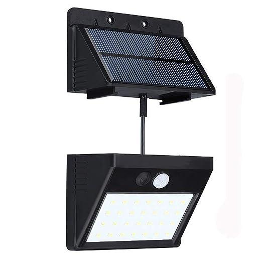 28 LED Sensor de movimiento solar de luz con 3 modos inteligentes, panel solar separable