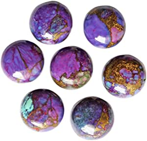 Pendant Stone AG-9844 Round Shape Size 15x15x8 MM Jewellery Making Top Quality Purple Mohave Copper Turquoise Cabochon Copper Suppliers
