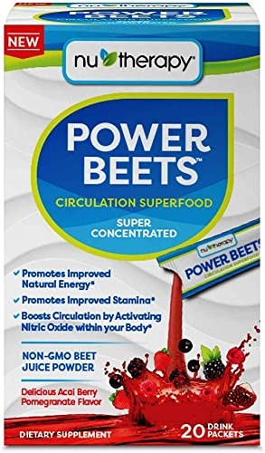 Nu-therapy Power Beets Powder 20 Piece Stick Pack