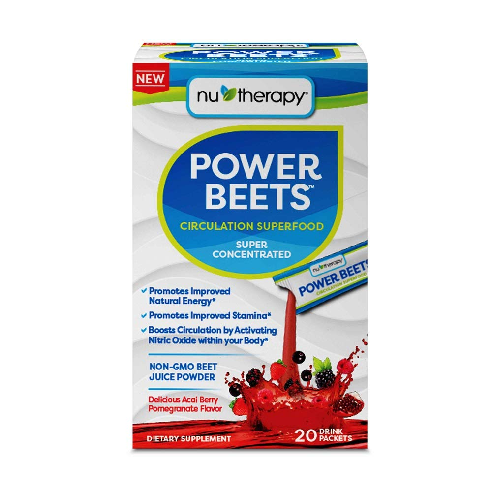 Nu-therapy Power Beets Powder 20 Piece Stick Packs, 0.45 Pound