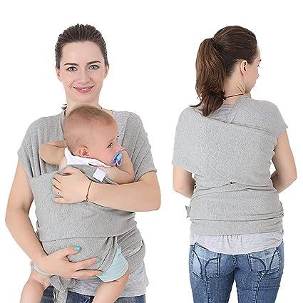e3c5bdd02808 Écharpe de Portage, l écharpe sling Coton Elastique, porte bebe echarpe  sans noeud