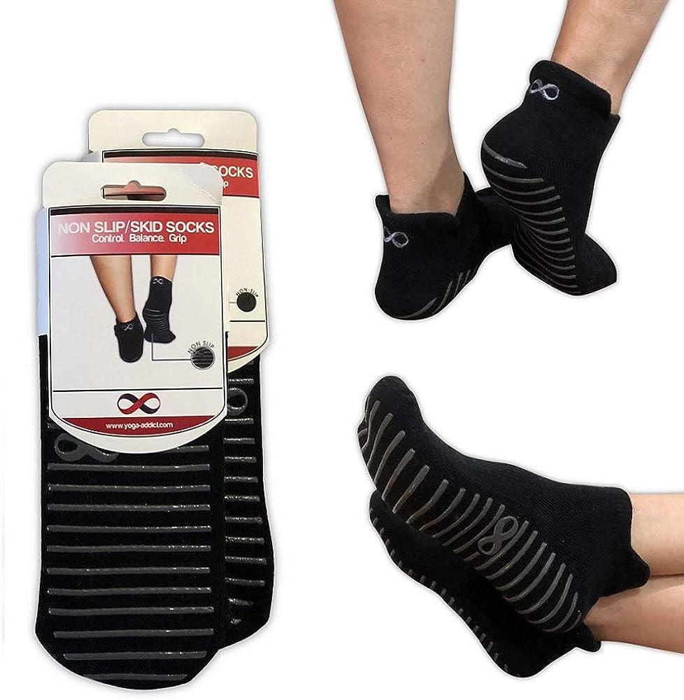 Non Slip Socks with Grips, Anti Skid, Yoga, Pilates, Barre, Hospital, Trampoline