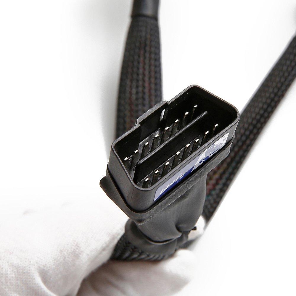 bbfly-B6 ODB II ODB2 divisor extensi/ón 16 pin Cable de extensi/ón adaptador 30CM//1FT