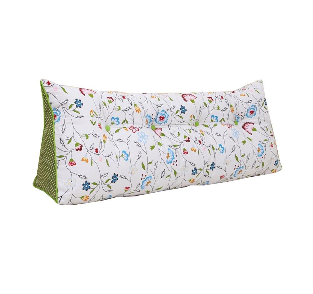 リムーバブルと洗えるファッションベッドサイドクッション三角ダブルラージソファの背もたれ厚いソフトパックベッドの枕腰の枕は、ウエストの枕を保護する (色 : #4, サイズ さいず : 120 * 20 * 50cm) B07DK74HQN 120*20*50cm|#4 #4 120*20*50cm