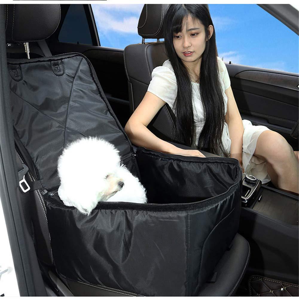 QZQWANA Pet Car Seat Cover Waterproof Puppy Basket Bag Pet Car Carrier Dog Cat Car Booster Outdoor Travel Car Seat Predector