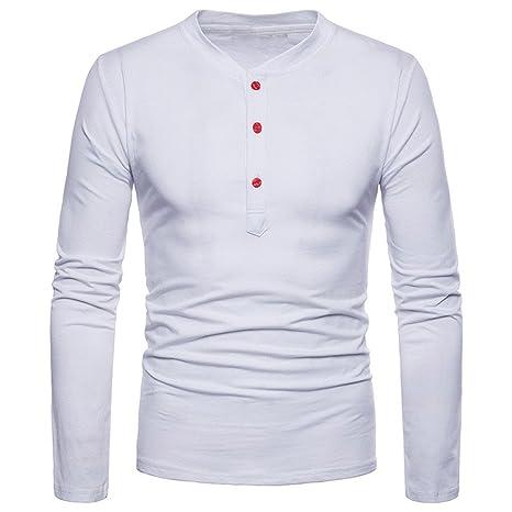 Hombre blusa manga larga Otoño,Sonnena ❤ Blusa casual ajustada de la personalidad de