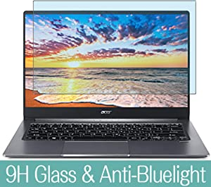 """Synvy Anti Blue Light Tempered Glass Screen Protector for Acer Swift 3 SF314-57-F58U/S 14"""" Visible Area 9H Protective Screen Film Protectors (Not Full Coverage)"""