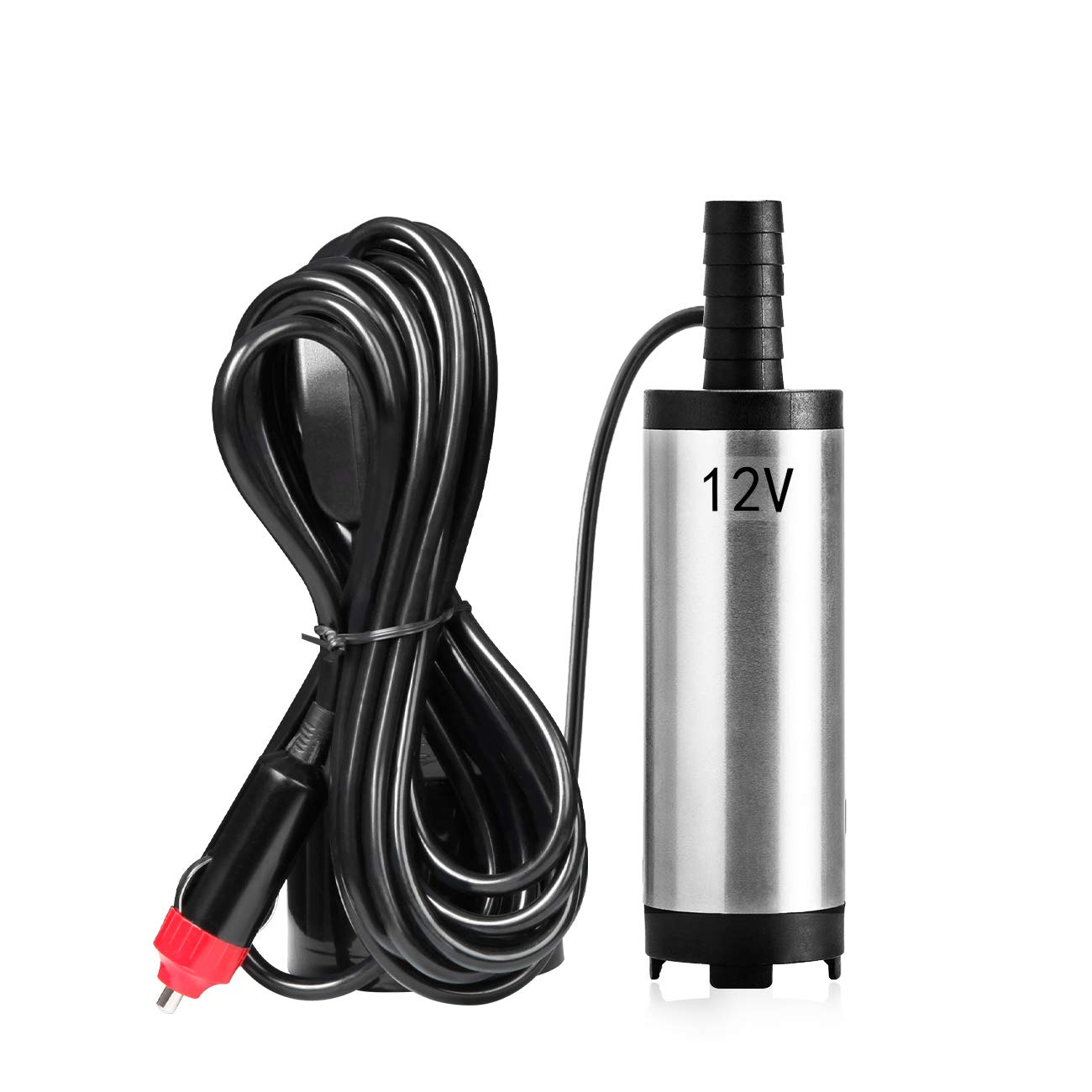 Favoto Submersible Diesel Water Pump 12V Refueling 38mm/1.5' Diameter Electronic Oil Pump Aluminum Alloy Body 18 L/min 4M Cable for Boat Car Aquarium FTUS-Oil-Pump-38MM