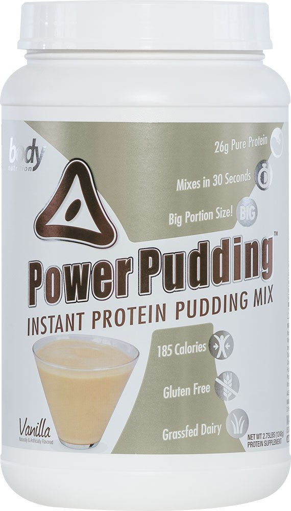 Body Nutrition Power Pudding Vanilla Caramel Instant Protein Pudding Mix 2.75 LB