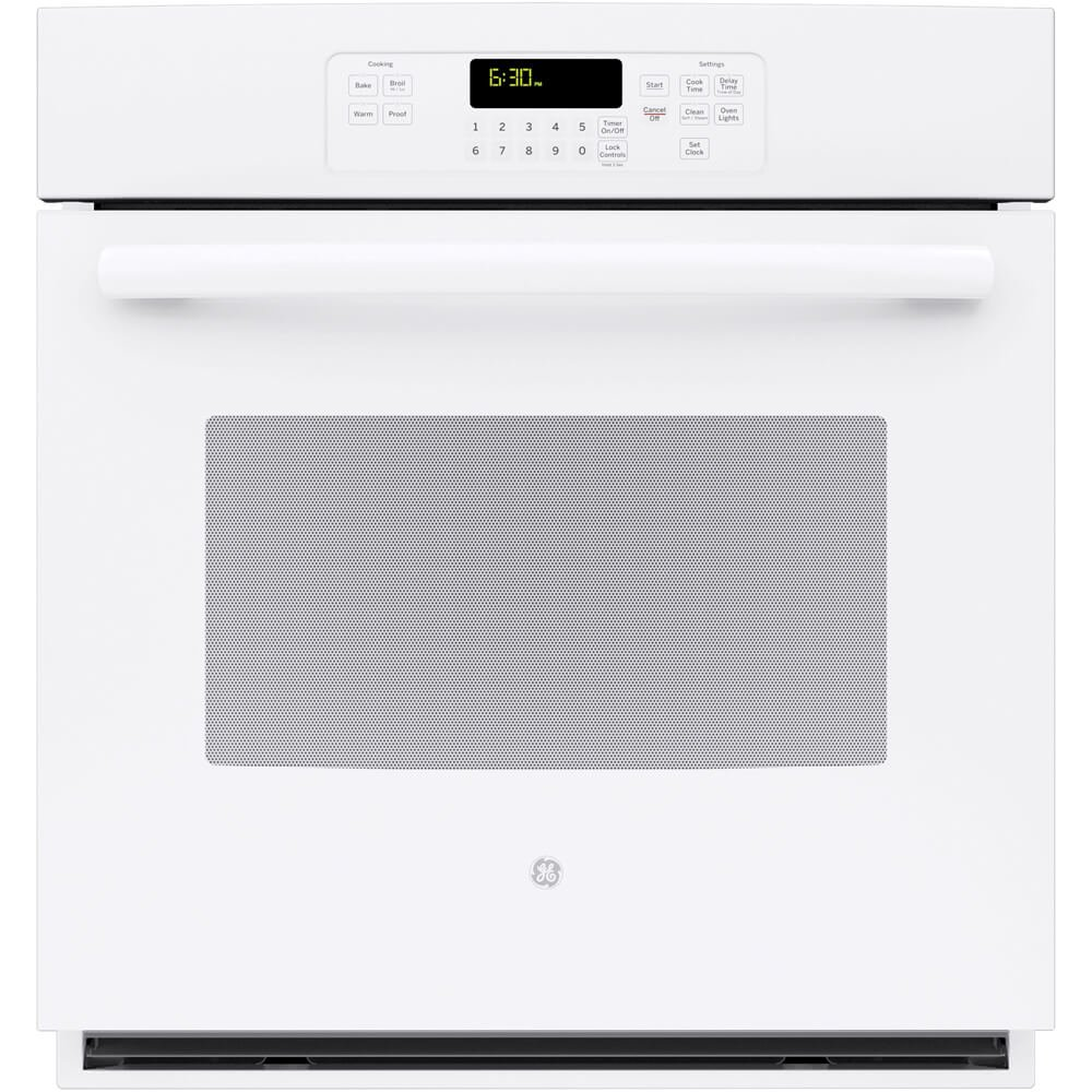 "GE JK3000DFWW 27"" White Electric Single Wall Oven"