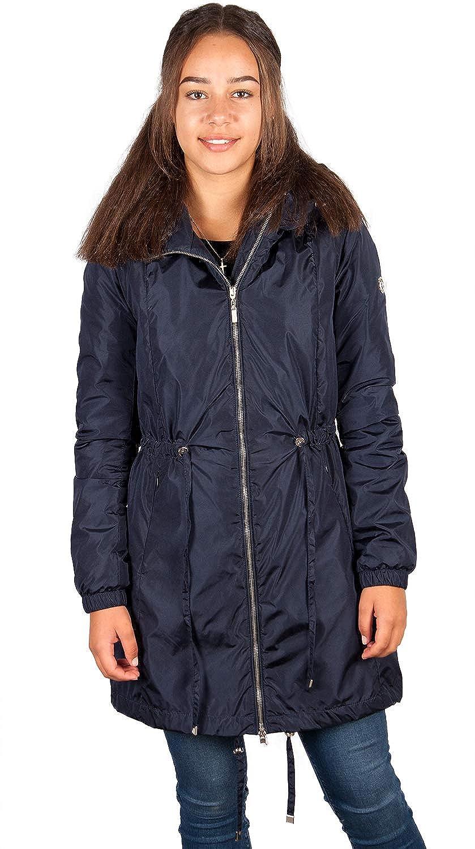Mit 6s29 Damen Jacke Mantel Übergang Blau Kapuze 8n0wOkP