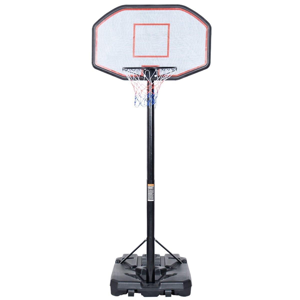 10FT 42''x28'' Backboard In/Outdoor Adjustable Height Basketball Hoop System