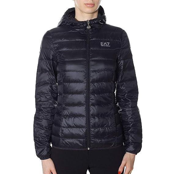3ea8e9798 Emporio Armani Womens Ea7 Logo Down Jacket in Black