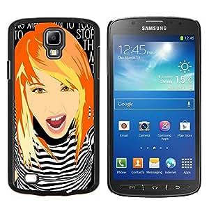 """Be-Star Único Patrón Plástico Duro Fundas Cover Cubre Hard Case Cover Para Samsung i9295 Galaxy S4 Active / i537 (NOT S4) ( Muchacha lista Redhead jengibre Grunge del polluelo"""" )"""