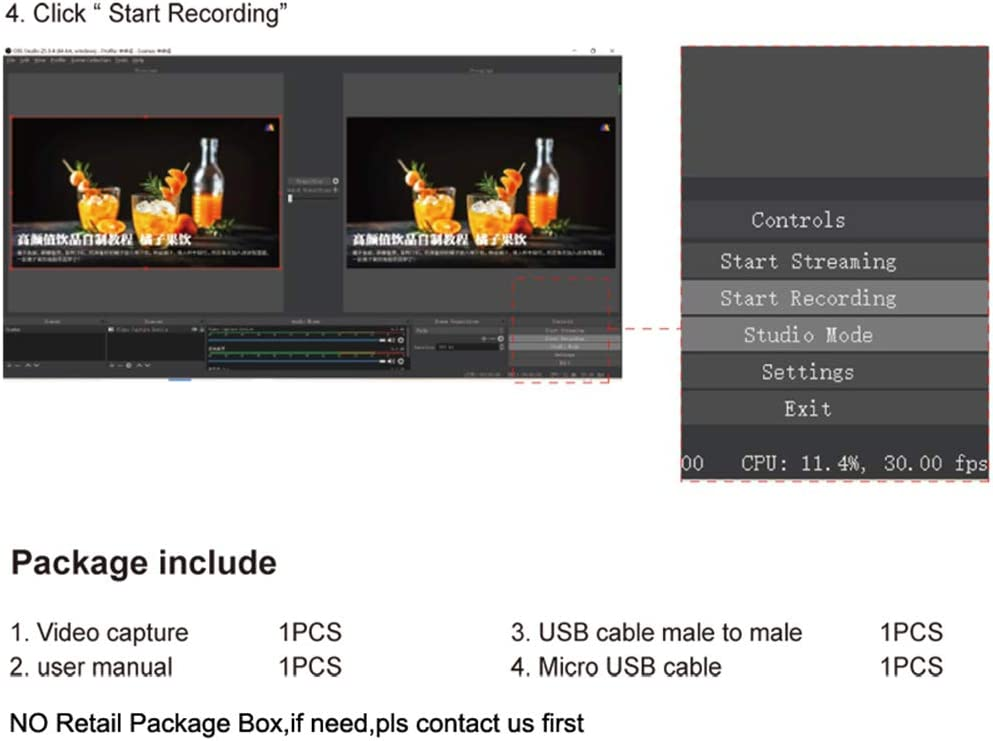 xuwei 1080P USB HDMI Video Capture Card Live Streaming Broadcast ...