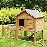 JAXPETY 53'' Wooden Chicken Coop Backyard Nest Box Wood Hen House Poultry Cage Hutch