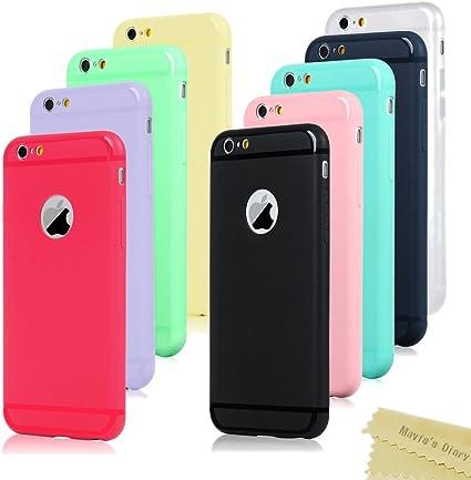 9x Cover iPhone 6, iPhone 6s Custodia Silicone Morbido Satinate Opaco - Mavis's Diary Case Ultra Sottile TPU Gomma Antiscivolo Satinata Protettiva ...